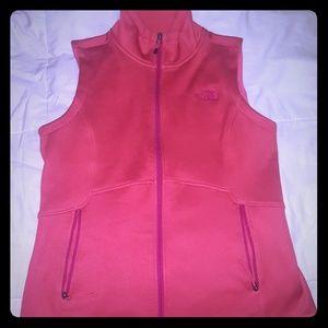 North face fleece zip up vest